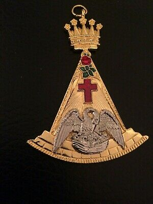 Rose Croix 18th degree high quality crafted large size collar jewel - new
