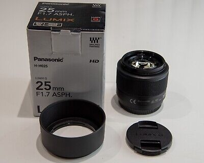 Panasonic Lumix G 25mm f1.7 Prime lens H-H025E-K for MFT, Micro Four Thirds