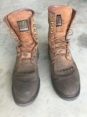 79cfb52c91f MEN'S SIZE 12 D Ariat Cascade 37185 Brown Lace Western Work Boots ...
