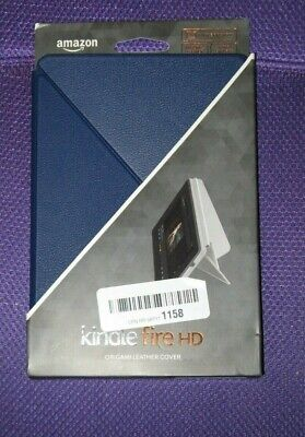 "Amazon Kindle Fire HD Blue Origami Leather Cover, Fits 7"" Brand New"