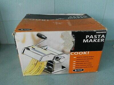 Brand New Boxed Unused Vintage Woolworths Chrome Pasta Maker Machine