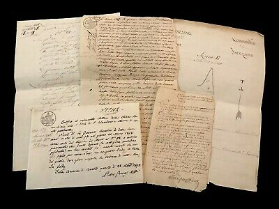 COLLECTION OF FIVE Old Documents 1683 -1848