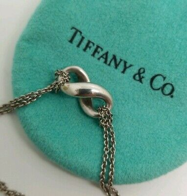 b945e7fe9 Tiffany & Co. Infinity Double Chain Necklace 925 Sterling Silver 6.7gr