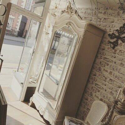 Stunning Vintage French Armoire with bevelled mirror door