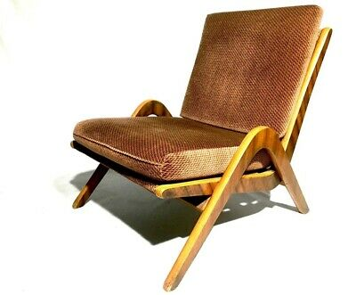 Mid Century Boomerang Chairs Pair by Neil Morris for Morris of Glasgow Walnut