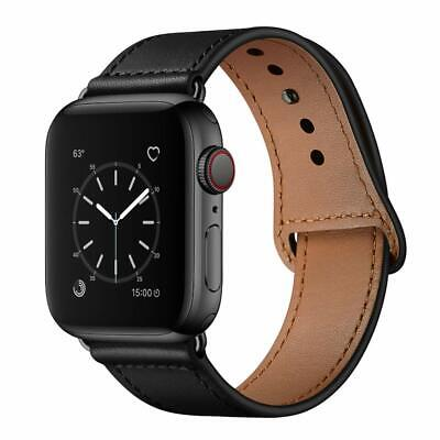 Apple Watch Series 4/3/2/1 38mm 40mm Genuine Leather Band Replacement Strap