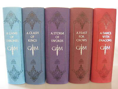Game of Thrones Leather Bound Novels by George R. R. Martin (5-Book Series Set)
