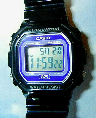"CASIO ""Illuminator"" Men's 3-ATM Quartz LCD Alarm Sport Watch-RUNS-FREE SHIPPING!"
