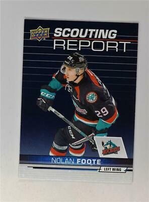 2018-19 18-19 UD Upper Deck CHL Scouting Report #SR-10 Nolan Foote