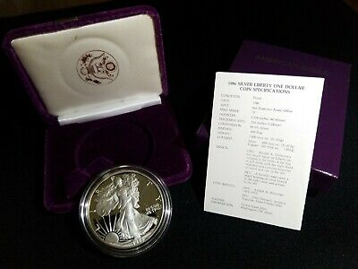 1986-S American Silver Eagle U.S. Mint 1oz Silver Proof Dollar Bullion Coin