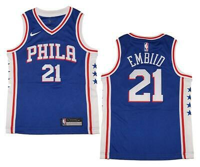 30de4edf014d Youth Nike Philadelphia 76ers  21 Joel Embiid Royal Swingman Jersey L (14 16