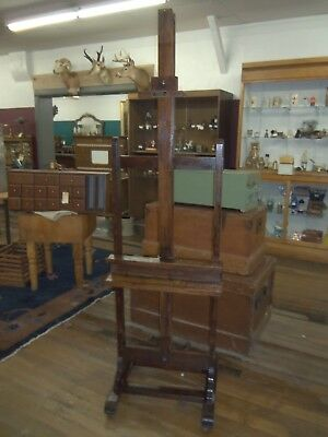 Antique Artist working Studio Easel Oak  Belong to Carrol Thayer Berry 1886-1978