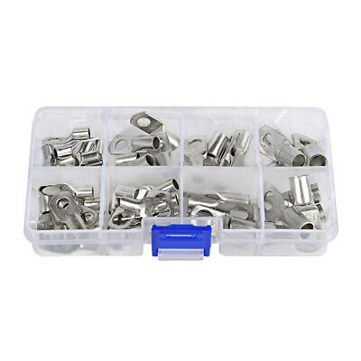 60PCS Bare Terminals Tinned Copper Lug Ring Seal Wire Connectors Terminal Kit