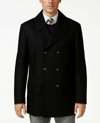 430b816f Lauren Ralph Lauren LUKE BLACK Wool Blend Peacoat MENS COAT SIZE 42R XLARGE