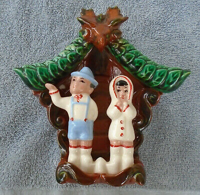 Vintage Cuckoo Clock Wall Pocket-Miramar of California-Wall Pocket-Unique