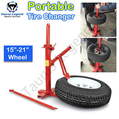 """15""""-21"""" Wheel Tire Changer Car Motorcycle Portable Tyre Changing Tool Stand"""