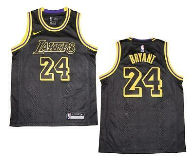 Youth Nike Los Angeles Lakers #24 Kobe Bryant Black Swingman Jersey L (14/16)