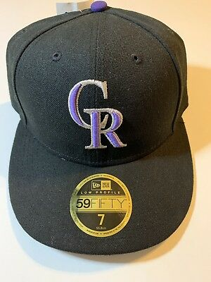 3cb46c9b886 NEW ERA COLORADO Rockies GAME 59Fifty Fitted Hat (Black) MLB Cap ...