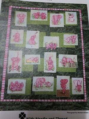 "Elephant quilt entitled ""Elepinks"""