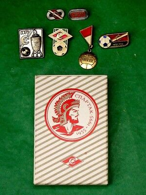Russian SPARTAK FC Fan's Playing Cards. 54 Cards Deck & 6 Pin Badges Set