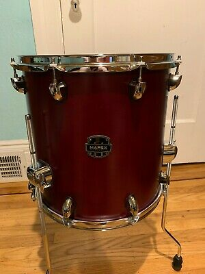Mapex Armory 14 x 14 floor tom used, Cordovan Red with hardware