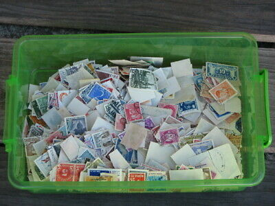 Worldwide Postage Vintage Used Stamps Collection -  950 stamps/1.24 oz. weight