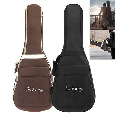 Oxford Guitar Case Gig Bag Double Straps Padded 10mm Soft Backpack Black Coffee