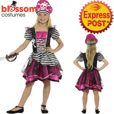 CK1024 Girls Perfect Pirate Costume Child Pink Buccaneer Fancy Dress Book Week