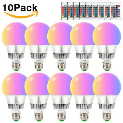 Multi Color Changing Magic Light E26 E27 10W RGB LED Lamp Bulb+IR Remote Control