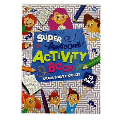 """A4 Childrens """"Super-Awesome"""" Educational Activity or Word Search Book - 72 Pages"""