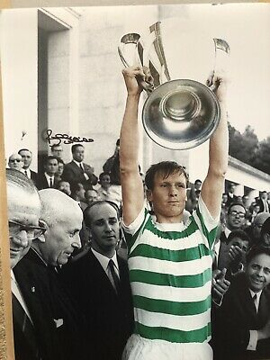 "Billy Mc Neill Signed 12x16"" Photograph With European Cup 1967 Lisbon Lions"