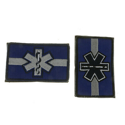 Star Of Life Embroidered Patch Armband Applique Stick/Sew On Army Badge w/ Hook