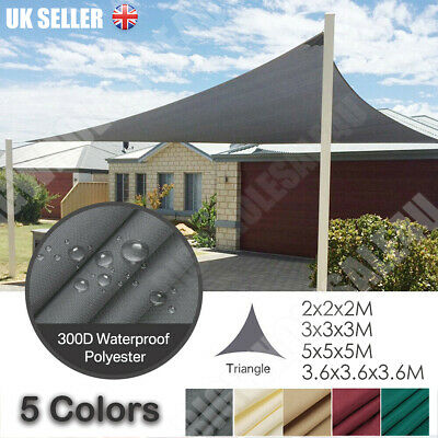 Sun Shade Sail Garden Patio Sunscreen Awning Canopy Screen 98% UV Block Free Rop