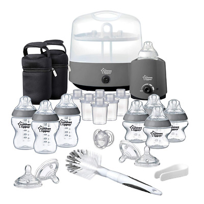 Tommee Tippee Closer to Nature Complete Feeding Set Grey OR White option Fast UK