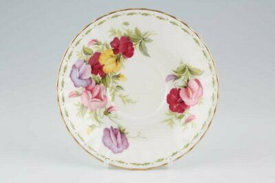 Royal Albert Flower Month Series Montrose April Sweet Pea - Tea Saucer - 130355Y