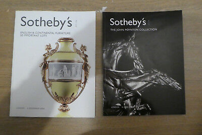 2 Sotheby's Auction Catalogues- Art / Furniture - 2004/2007