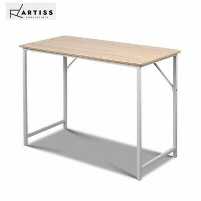 Artiss Office Computer Desk Study Laptop Metal Table Student Home Work White