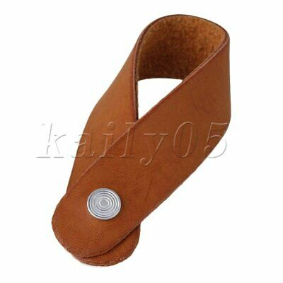 PU Leather Acoustic/Folk/ Classic Guitar Strap Hook Button Brown 198 x 20mm