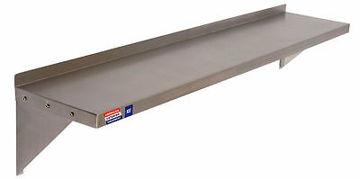 "STAINLESS STEEL WALL SHELF 1200 x 300 MM (48""x12"") WITH SCREWS & WALL PLUGS"