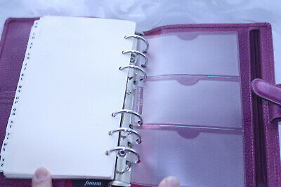 Filofax Personal Organiser - Finsbury - Purple Leather - Used