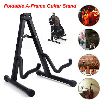 Foldable High Quality Musician's Gear A-Frame Acoustic Guitar Stand Black New US