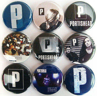 PORTISHEAD Button Badges Dummy Third Roads All Mine Beth Gibbons Pins Lot of 9