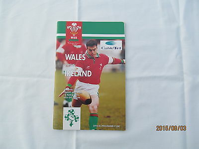 Wales v Ireland. Rugby Union. March 1995. + Event Tickets.