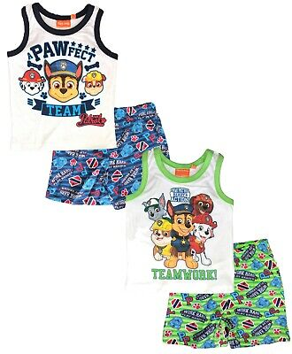 Official Licensed Paw Patrol Boys Girls Child PJs Cotton Jammies Summer Pajamas