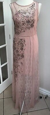 Next PINK DRESS - With Net Overlay & Pretty Sequins - SIZE 12 - BNWT - REDUCED!