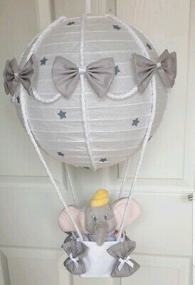 Hot air balloon light shade + Disney dumbo looks stunning nursery x last few