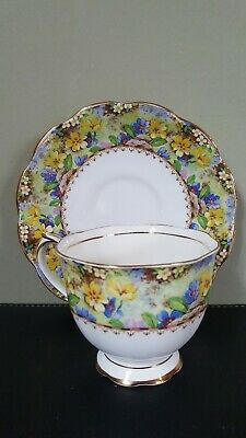 Vintage 30's Royal Albert Crown China MARY'S GARDEN tea cup & saucer