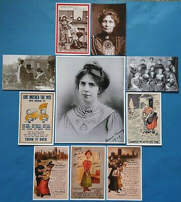 Suffragette Suffrage Womens Vote Print & Postcard Collection Set 10 Items