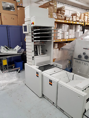 Watkiss DFS suction feed collator with Watkiss Vario Pro booklet maker & trimmer