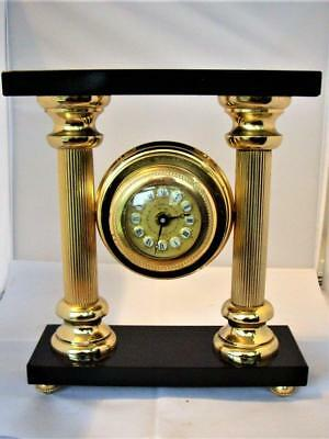 Large Vintage Gilt Portico Clock - Restored
